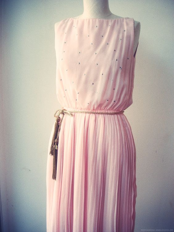 Grecian Inspired Baby Pink Dress