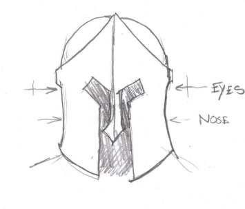Spartan helmet template patterns techniques for Spartan mask template