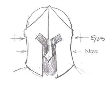 Spartan helmet template patterns techniques for Spartan mask template