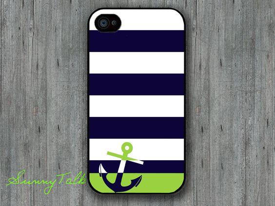 Iphone 4/4S Case - Anchor  case via Etsy.