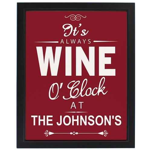 Personalised Wine O'Clock Framed Print  from Personalised Gifts Shop - ONLY £24.99