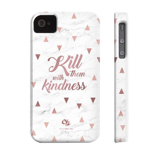 Rose Gold Kill them with Kindness Phone Case