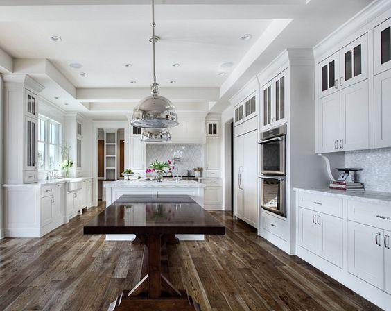 Best White Kitchen L Dark Wood Veranda Estate Homes Interiors 400 x 300