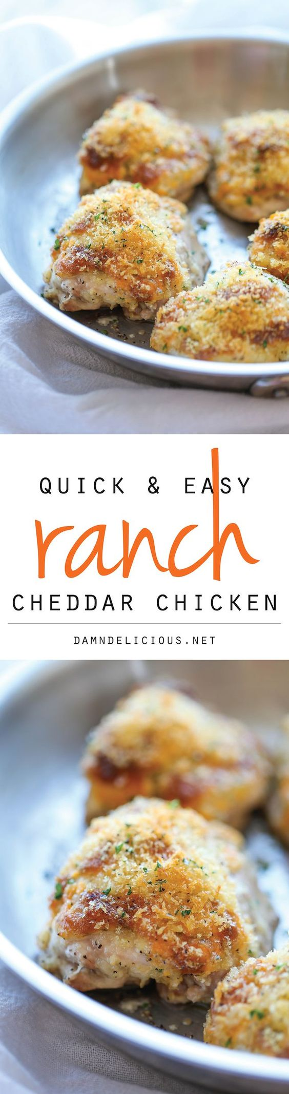 Ranch Cheddar Chicken - The quickest and easiest baked chicken with an ...