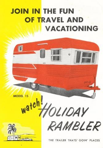 vintage holiday rambler | Vintage Literature Reproductions : 1966 Holiday Rambler Trailer ~ RV ...