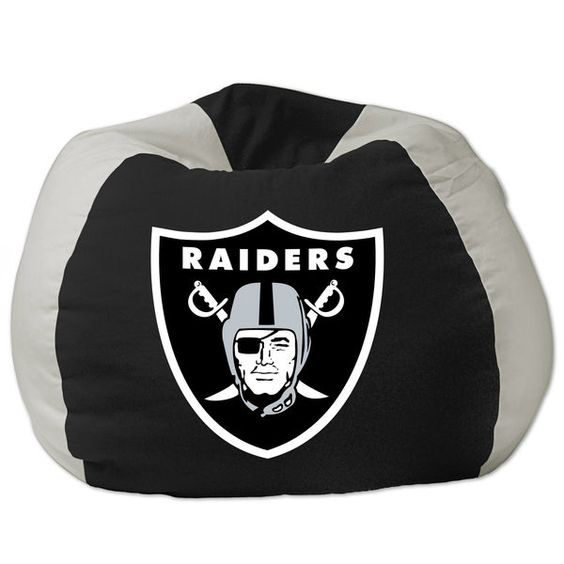 Oakland Raiders Bean Bag Chair   $79.99 | Sports Fitness | Pinterest | Bean  Bag Chair, Bean Bags And Raiders