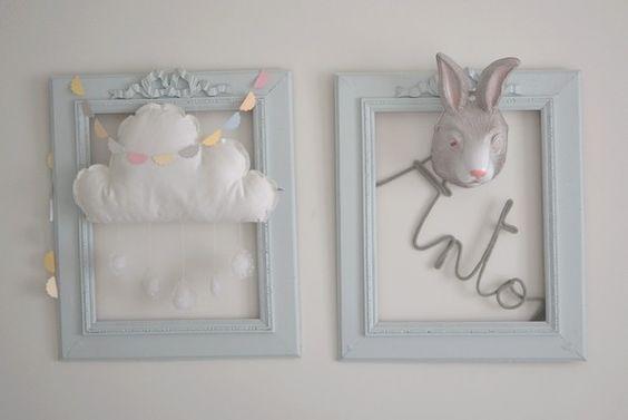 Fiktive Bilderrahmen aufhängen, wo die Kiddies ihre Kunstwerke aufhängen und ausstellen können...