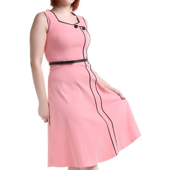 Vestido Pin Up Rosa | Crazyinlove España