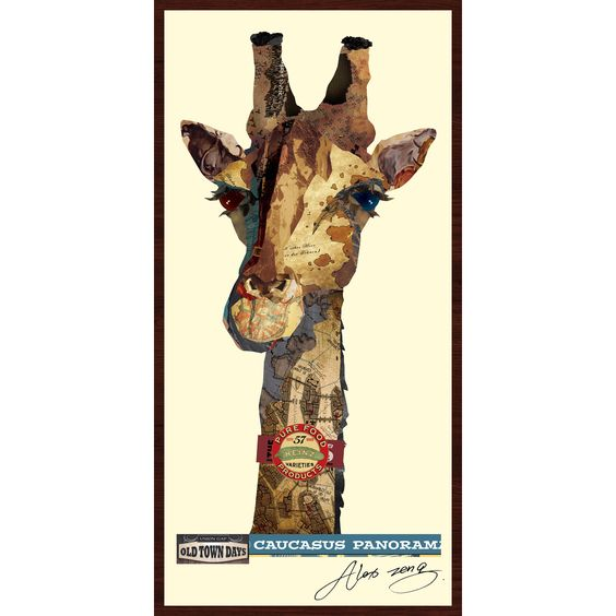 Showcase your love for wildlife by displaying Alex Zeng's captivating giraffe…