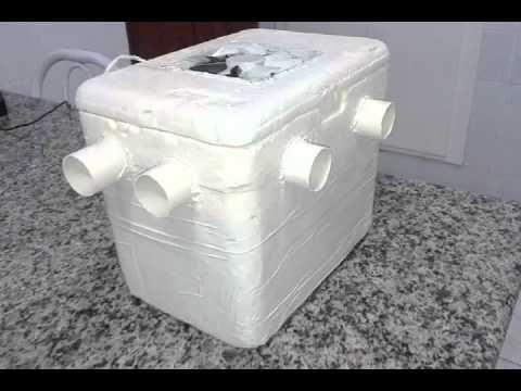 Ar Condicionado Caseiro Feito Com Caixa De Isopor Caixa De