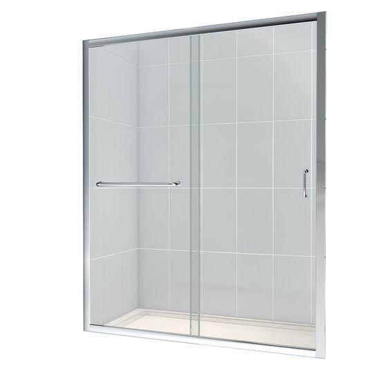 DreamLine Infinity-Z 56-in to 60-in W x 72-in H Frameless Sliding Shower Door
