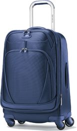 Samsonite xSpace Spinner, so I can be one of the lame backpackers with roll luggage and a backpack.
