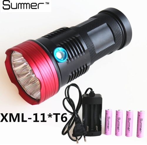 23000lm Xm-L 11*T6 High Power LED Flashlight Tactical Hunting waterproof Torch lighting Outdoor