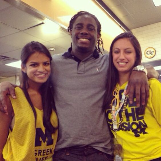Denard Robinson traveled to Atlanta to watch the championship game!