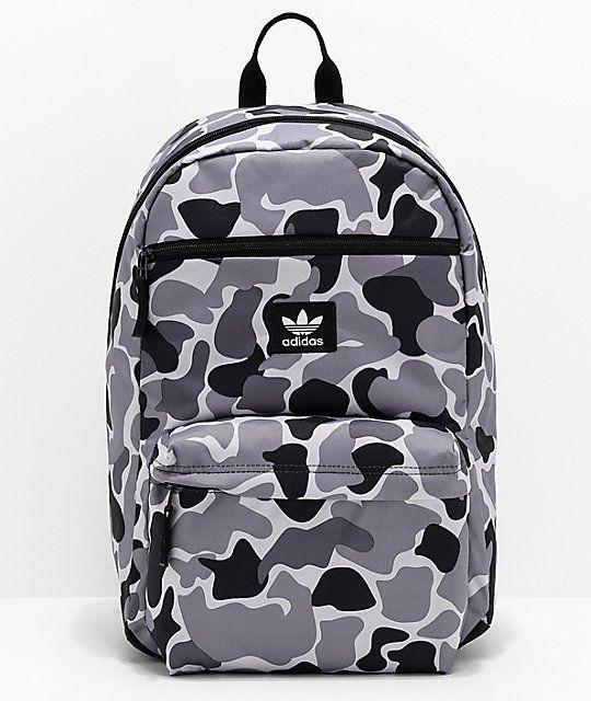 legjobb minőség később olcsó eladó adidas Originals National Grey & Black Camo Backpack | Backpacks ...