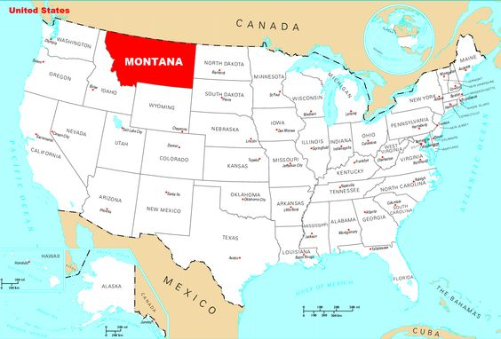 Montana Usa Very Different Carte Etats Unis Voyage Usa Dakota Du Sud