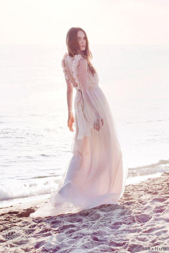 leila hafzi wedding dresses 2013 nia draped bridal gown straps