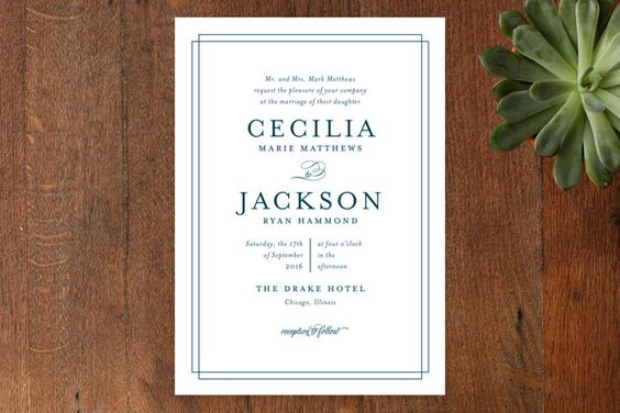 Chic Gala Wedding Invitations by Kimberly FitzSimons at minted.com