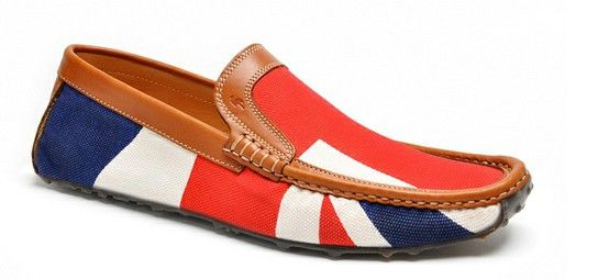 Harry's of London. Union Jack Special Edition Jet Moccasin for £295 in the store on Burlington Arcade. http://www.burlington-arcade.co.uk/shops/harrys-of-london