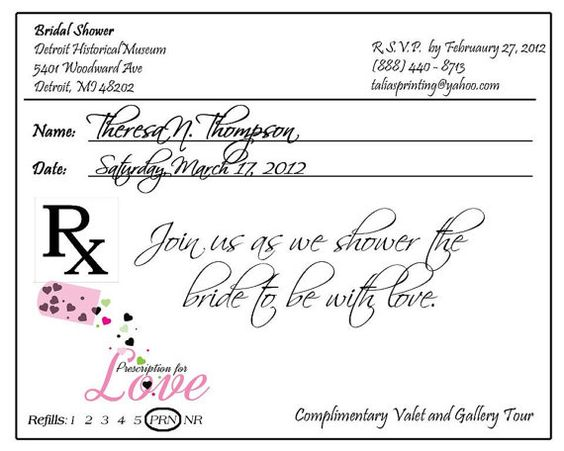 Prescription Pad Invitation Digital File  Cas Invitations And Etsy