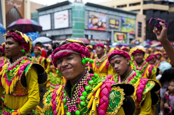 Cuz Badasses wear neon yellow and pink    Sinulog 2012, Cebu City, Philippines