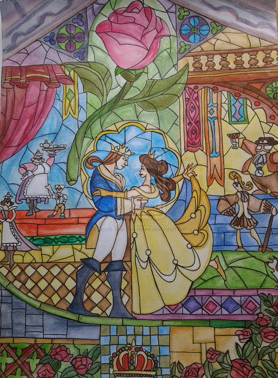 Beauty And The Beast Stained Glass Wallpaper Images u0026 Pictures - Becuo