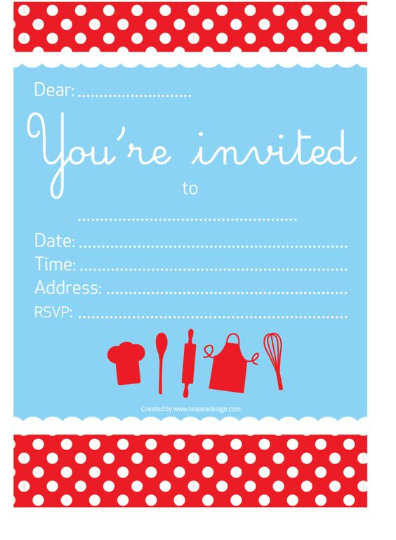 Birthday Invitations Cards with perfect invitation layout