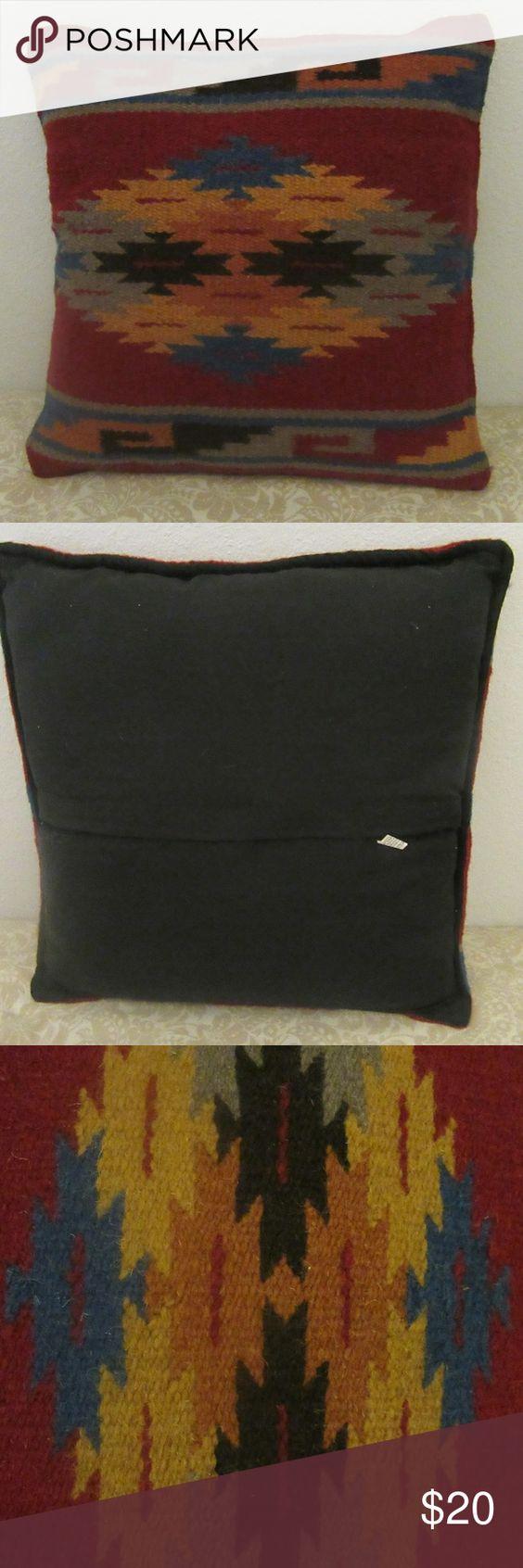 Southwestern Styled El Paso Saddle Blanket Pillow Great Shape Southwestern  Styled El Paso Saddle Blanket Pillow