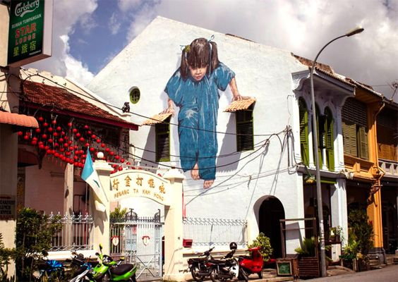 New street artist is making a splash in Malaysia this month, Painter Ernest Zacharevic. via 'This is Colossal'