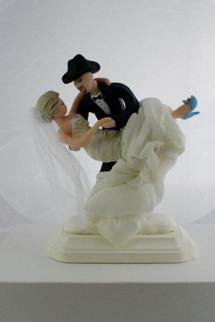 wedding cake topper groom dipping bride the world s catalog of ideas 26328