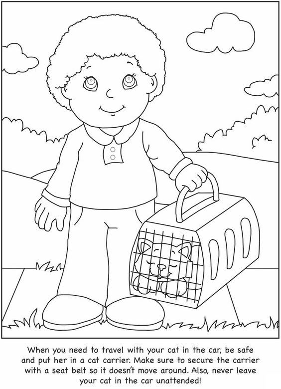 How To Take Care Of Your Cat Coloring Pages