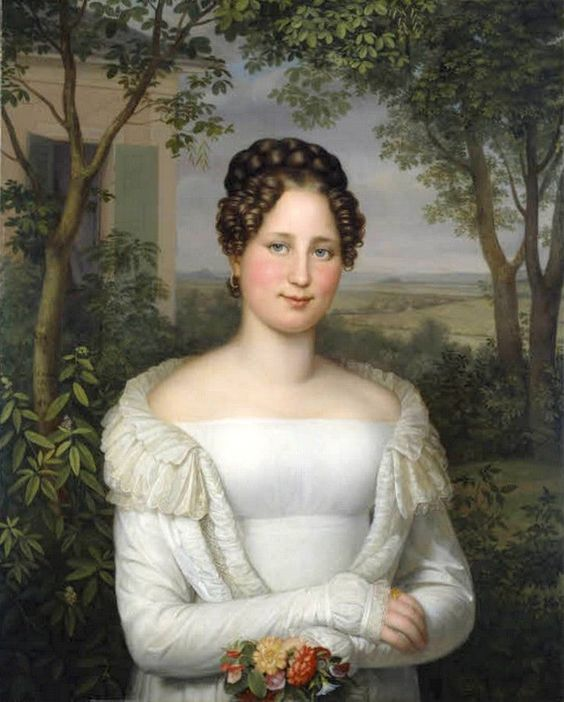 August von der Embde (1780-1862) — Portrait of Mrs. Horstmann, 1822