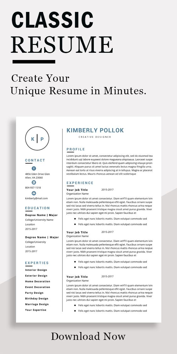 Resume Template Professional Resume Template Instant Download Resume Template Word Cv Cv Template Resume Template Free Simple Resume Template Resume Template Free Resume Template Professional