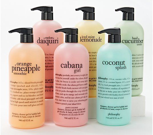 Philosophy Supersize Shower Gel 32oz Favorites Six Pack Qvc Com Shower Gel Gel Pineapple Girl