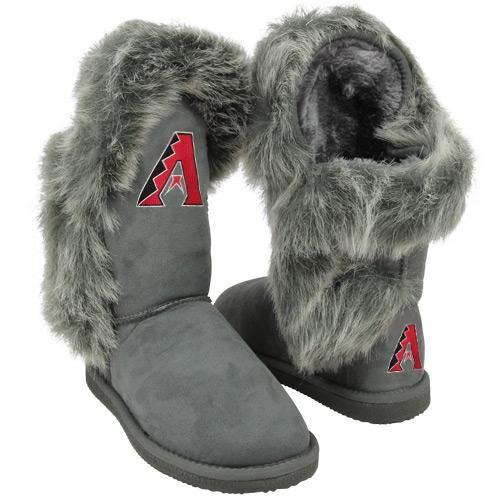MLB Cuce Shoes Arizona Diamondbacks Women's Fanatic II Boots - Gray