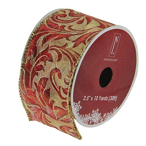 Peacock Feather NEW Kirkland Signature 50 Yards Wide Ribbon Wire Edged