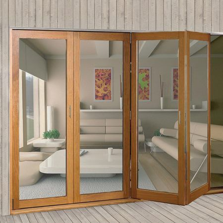 Sistema plegable colgante para 4 puertas de hasta 40 kg - Puertas plegables exterior ...