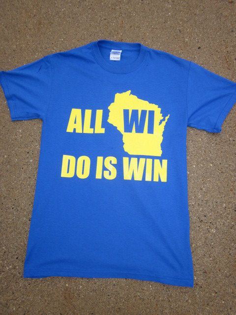 All WI Do is Win Milwaukee Brewers Tshirt by CandleSupplyCompany