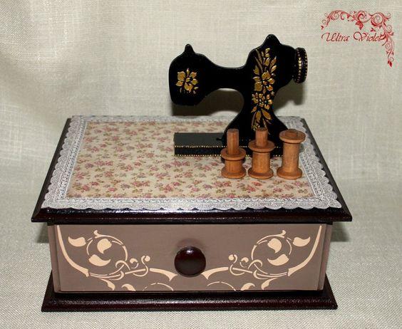Näh / Stricknadeln Box  von Exklusive Geschenke. auf DaWanda.com