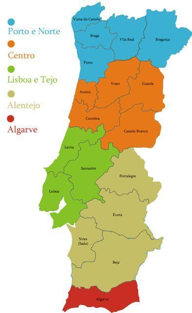 Mapa Regioes Mapa De Portugal Cidades Mapa De Viagem