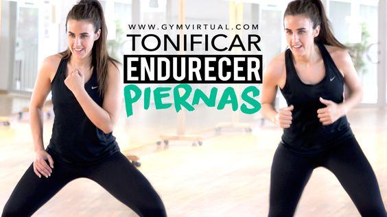 Rutina de entrenamiento con ejercicios de piernas para realizar en casa para tonificar y endurecer la parte inferior del cuerpo.