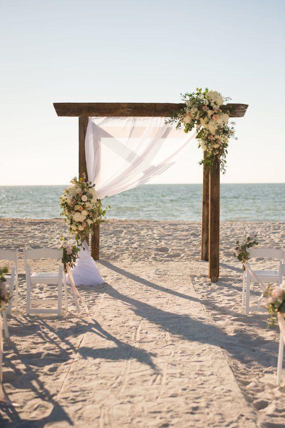 Pretty Pink Beach Wedding With An Elegant Formal Reception