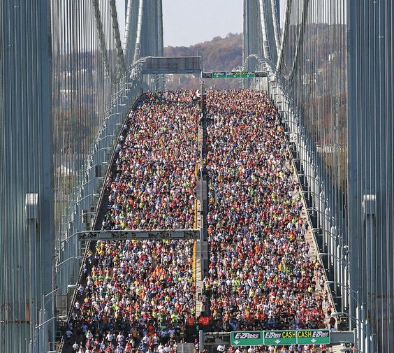 New York City Marathon... I cannot wait until the day that I will be among the runners standing on the Verrazano bridge with 26.2 miles ahead of me *knowing* that I will finish.