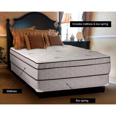 Dreamy Rest Pillow Top Euro Top Queen Size 60 X80 X10 Mattress And Box Spring Set Pillowset Mattress Sets Queen Mattress Size Mattress