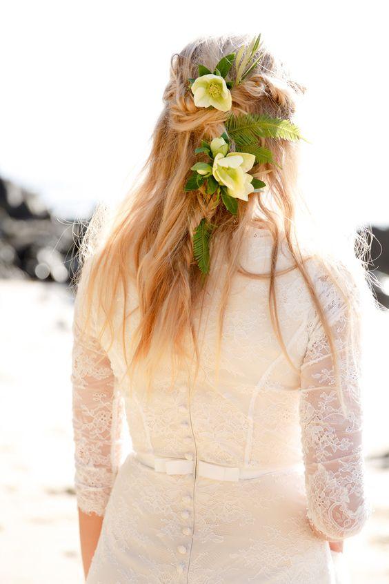 Photography: Ashlee Raubach Photography - www.ashleeraubach.com  Read More: http://www.stylemepretty.com/2015/05/15/windswept-coastal-bridal-session/