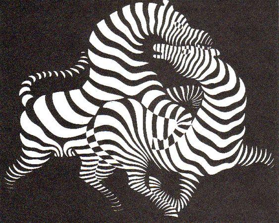 Victor Vasarely >> Zebras (1938)