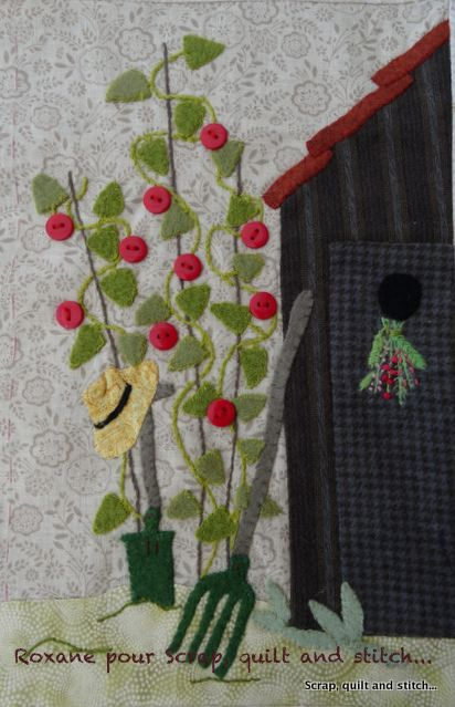 Scrap,quilt and stitch: Grandma's garden, bloc 8
