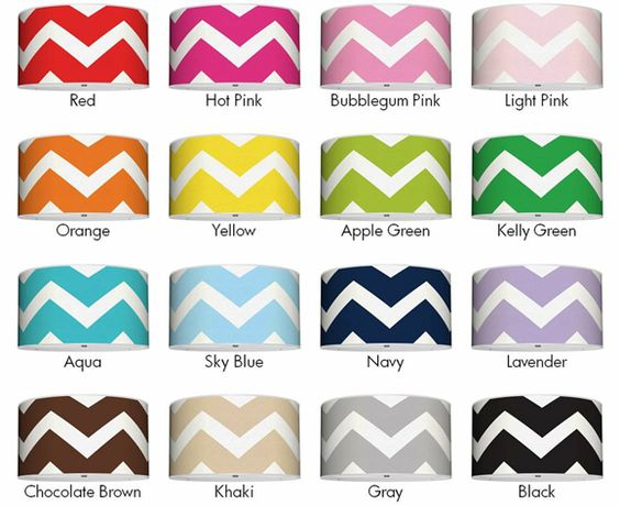 Chevron shades in all sorts of fun colors!