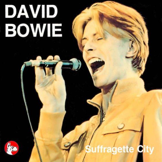 David Bowie – Suffragette City (single cover art)