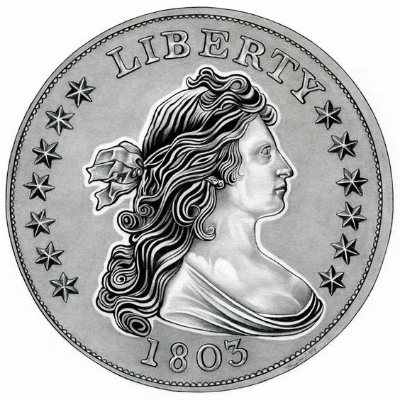 Draped Liberty Dollar by TheNightGallery.deviantart.com on @DeviantArt